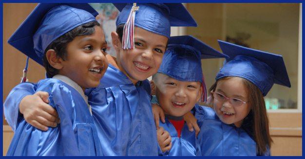 Graduating preschool children